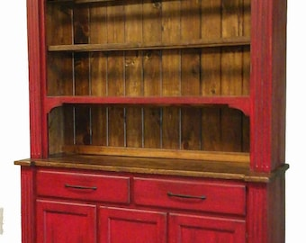 dining room hutch / welsh dresser / step back hutch and buffet
