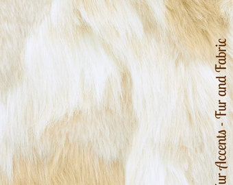 Faux Fur Light Ivory Tan Spotted Arctic Fox - Fabric - Shag, Crafts, Sewing, Baby & Pet  Photo Props