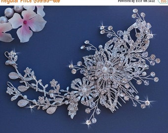 Vine Bridal Comb Wedding Hair Accessories Crystal Accessory Bride Jewelry Headpiece Head Piece Blusher Birdcage Bird Cage Veil Comb