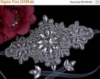 Rhinestone Bridal Bracelet - Wedding Bracelet - Bracelet - Crystal Bridal Bracelet - Bridal Wedding Jewelry - Beaded Crystal Bracelet