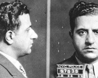 Mugshot of Albert Anastasia 1902 - 1957 from 1936