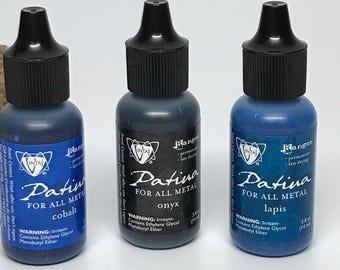 New 3 Vintaj Patinas :  lapiz, cobalt & onyx
