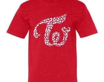 TWICE Valentine's Day Hearts Group Logo K-pop T-Shirt