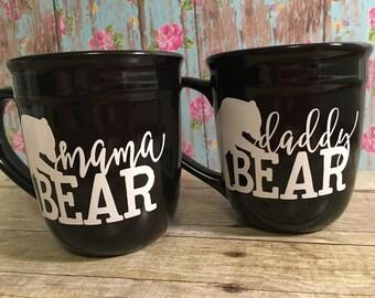 Mama Bear and Daddy Bear mug set