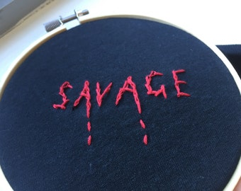 Savage embroidered shirt