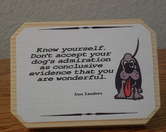 Dog Friend Plaque for Desk or Knick-Knack Shelf **FREE SHIPPING**
