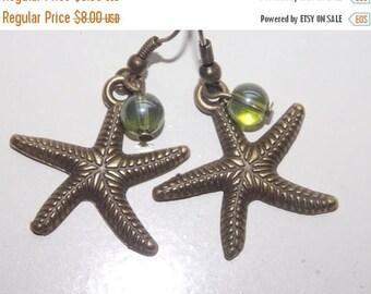 15%OFF Bronze Starfish Earrings