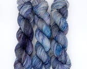 Divination - (Everyday Sock, variegated) - grey with blue and purple