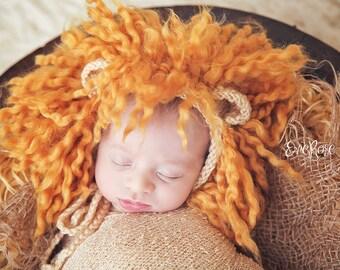 Newborn Knit Pattern, Newborn Knitting Pattern, Photo Prop Pattern, Newborn Prop Pattern, Baby Hat Pattern, Lion, Lion Hat, Lion Prop Set