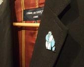 Enamel pin badge, enamel pin, gorilla enamel pin, fine art pin, gorilla brooch, gorrilla badge, lapel pin, pin, pinback button, hard enamel