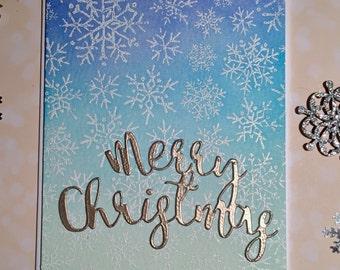 Merry Christmas Snowflake Card