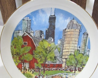 The Farm Lincoln Park Zoo,Franklin McMahon,Chicago Collection Plate,Chicago Landmarks,Scenes of Chicago