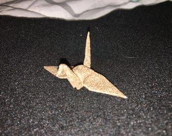 Large Sparkle Glitter Champagne Origami Paper Cranes - 100