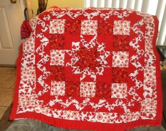 Wild n Red lap quilt