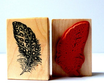 Stamp pen of feather nature