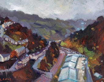 Brynithel, The South Wales Valleys limited edition giclee print. Edition of 100