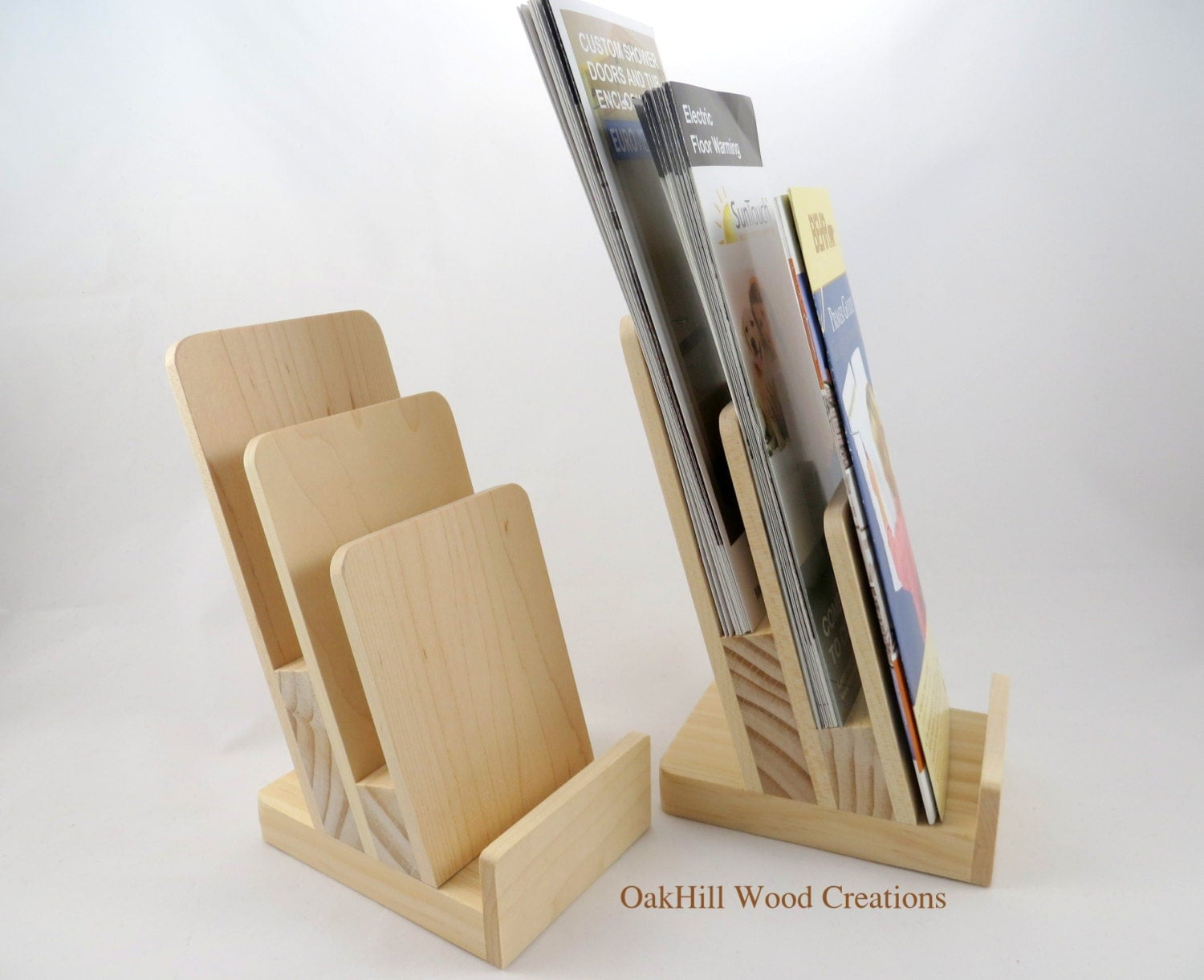 Table Paper Holder Display Stand 3 Tier Rack Card Stand Brochure Holder Wooden