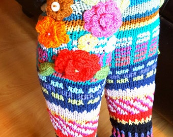 Beautiful handmade thigh high socks