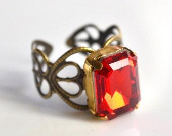 Red vintage ring