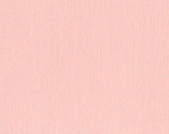 BeSpoke NATURAL Peach Pink Solid Double Gauze Lightweight Cotton and Steel Fabric BTY
