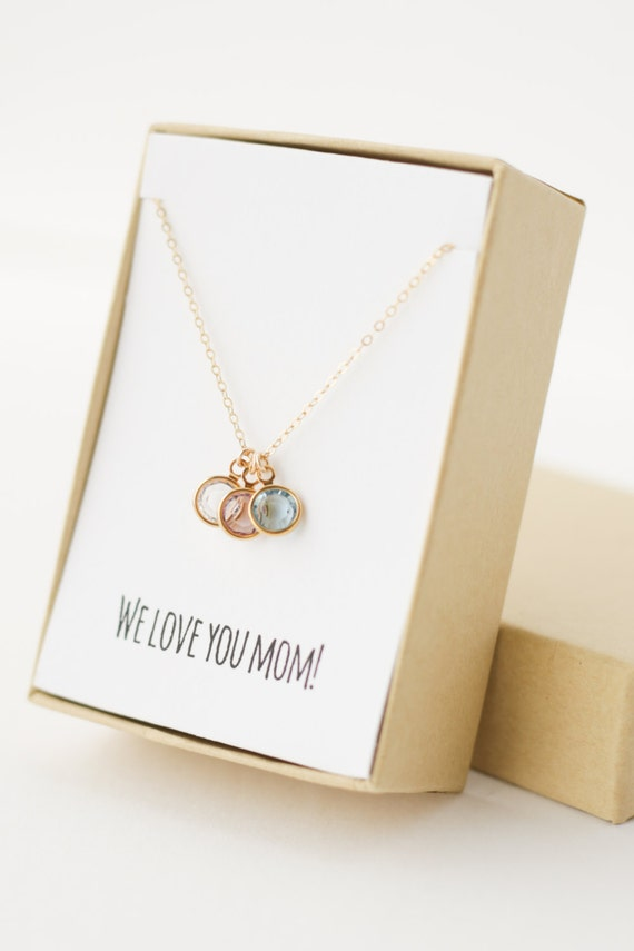Mom birthstone charm necklace christmas gifts for mom mom for Jewelry for mom for christmas