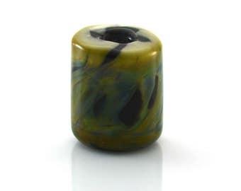 Jungle Hideout Handmade Glass Large Hole Lampwork Bead