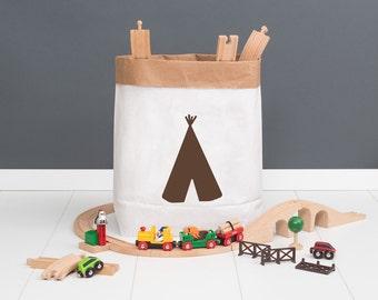 Paper bag M - tipi brown - powder cloud
