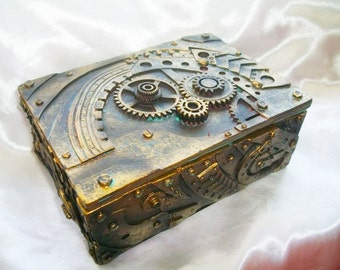Steampunk Mechanical Inspired Jewelry/Trinket Box