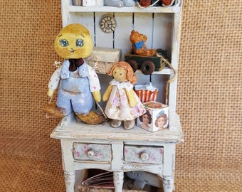 Old puppet cupboard 1:12 scale
