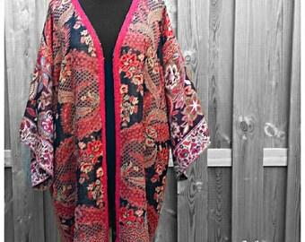 Handmade Pashmina Kimono  *Majestic Black* Boho One Size