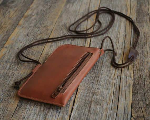 Unique Small Brown Leather Wallet Microsoft Lumia 535 540 Dual 640 XL 650 950 925 928 930 1020 Mini Messenger Bag with Zipper and Organizer