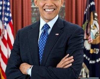 Barack Obama Photo, 2nd Term Official Portrait 2013 President Photo, US President