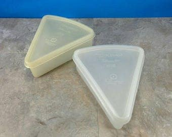 Vintage Tupperware Millionaire Line Pie Slice Storage Set 1954 Tupper-Seal - 4 Pieces