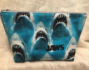 Jaws Large Zipper Clutch