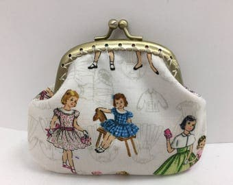 Vintage Ladies Print Coin Purse