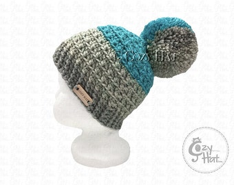 Ready to ship! Cozy Cake Beanie Hat. Hand Crochet Beanie. Size 6 to 12 months Baby. Unisex