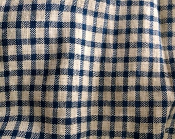 Old Indigo and White Checked Apron