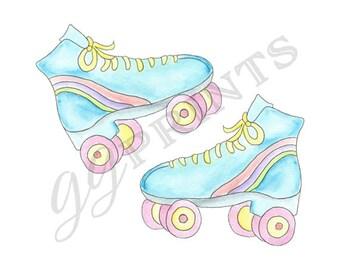 Roller Skate Clipart // Roller Skate Party