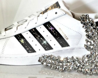 Women's Adidas Original Superstar with SWAROVSKI® Xirius Rose Crystals - Custom Adidas - Custom Superstar - Swarovski Adidas - Sneakers