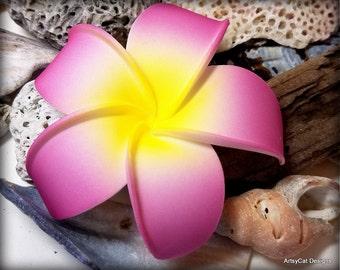Lavender Purple Plumeria Hair Clip, Plumeria hair flower, Hawaiian, Frangipani, Beach wedding, Hawaii, Luau, with FREE MINI Plumeria clip