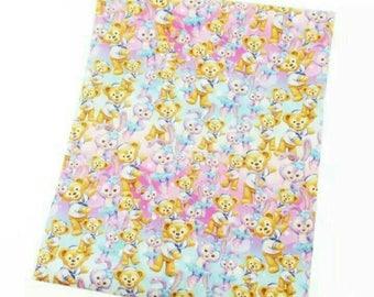 sweet  little animals 6 fabric