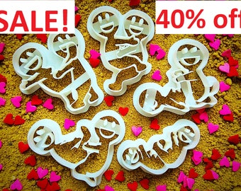 Kama Sutra cookie cutter set (5 pieces)