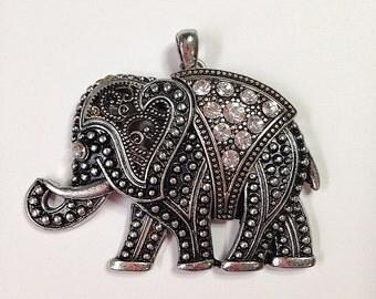 Rhinestone Elephant pendants, jewelry component, boho style, jewelry components, craft supplies