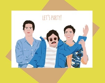 Birthday card - Weekend at Bernies - Let's party