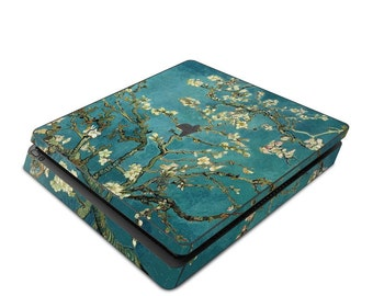 Sony PS4 Slim Console Skin Kit - Blossoming Almond Tree by Vincent van Gogh - Sticker Decal Wrap