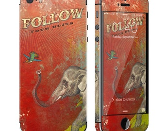 Follow Your Bliss by Duirwaigh Studios - iPhone 5/5S Skin - Sticker Decal