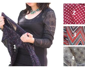 Beautiful Black & Purple Pocket Head Scarf Tichel  ,Snood, Headcovering, Head Covering,jewish headcovering,Scarf,Bandana,apron