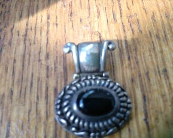 Sterling  and Onyx Pendant