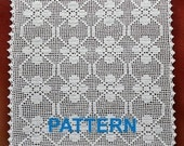 crochet pattern vintage square doilies digital doily napkin tablecloth filet crochet tablecloth pattern PDF Instant download egst Niatta