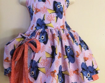 Handmade Peekaboo Dress finding dory nemo Inspired sizes newborn - girls 8